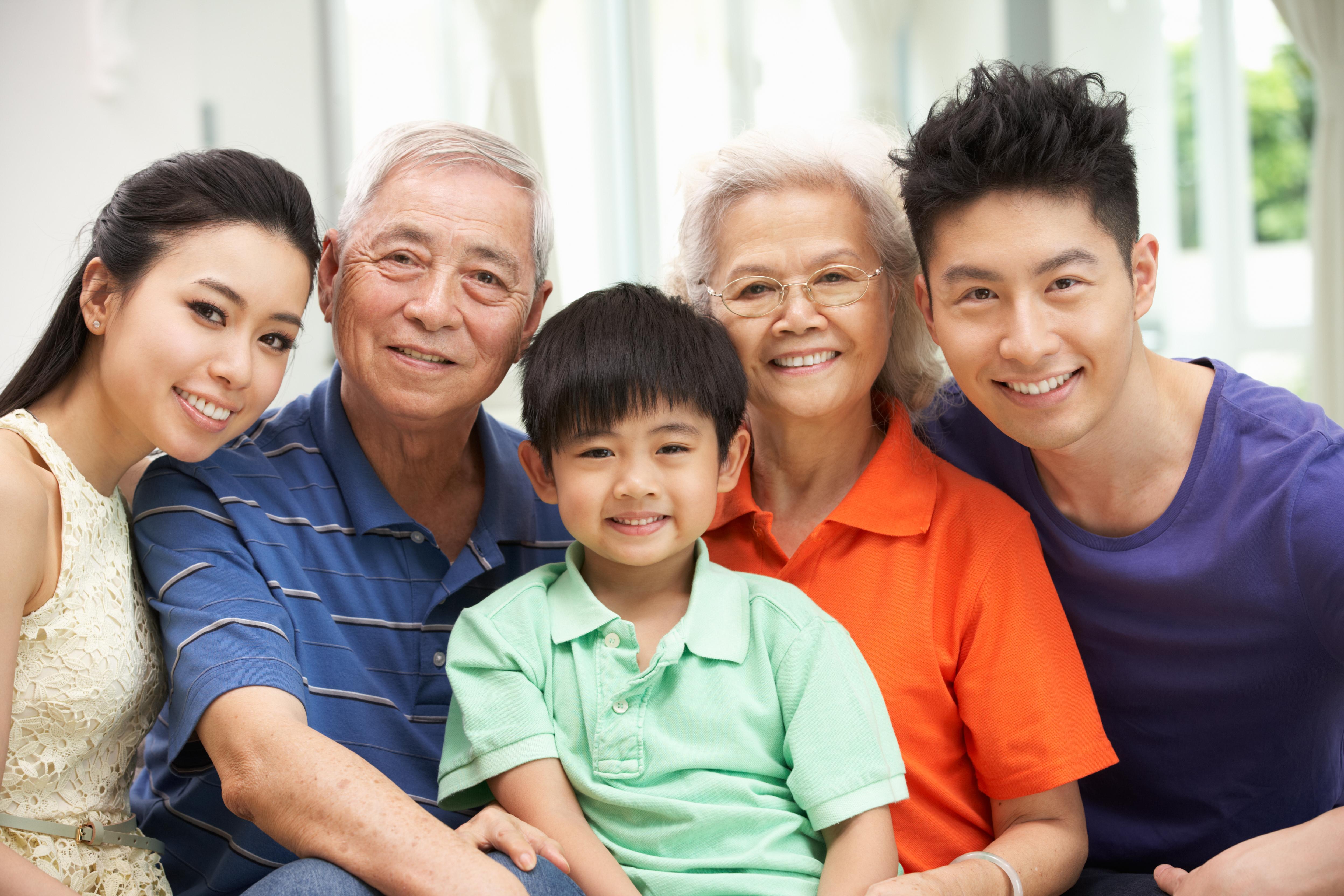 family portrait multi-generations