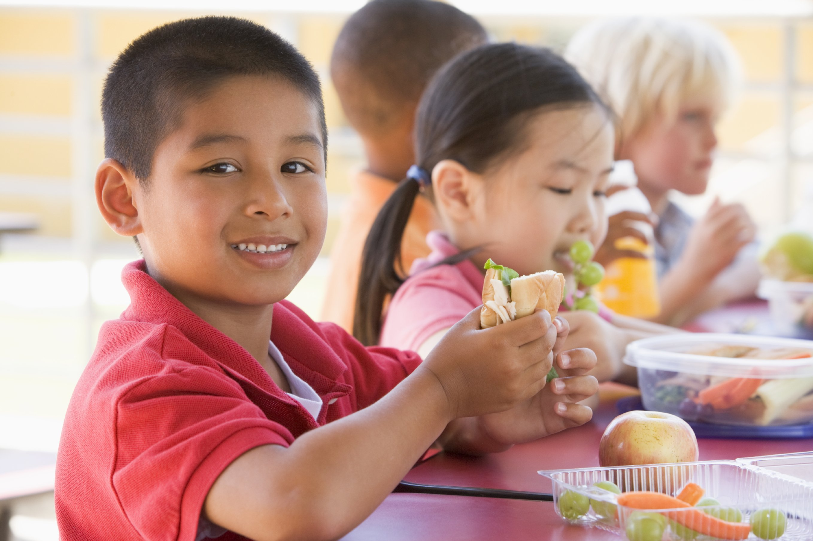 children eating during recess