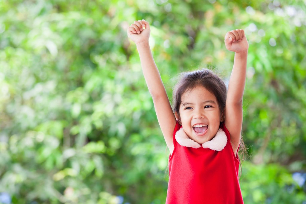 self-esteem in children an image of a confident girl