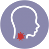 icon of cough sore throat or laryngitis of common illness that could be used for telemedicine or online consultation using the healthway medical app